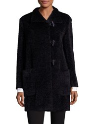 Max Mara Luciana Alpaca And Virgin Wool Duffle Coat Black