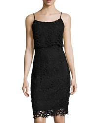 Nanette Nanette Lepore Strappy Lace Peplum Sheath Dress Black