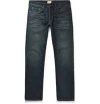 Simon Miller M001 Slim Fit Distressed Selvedge Denim Jeans Indigo