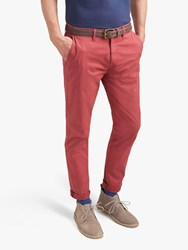 Joules Laundered Slim Fit Chinos Washed Red