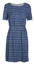 Noa Noa Short Sleeve Dress Blue