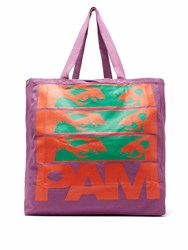 Pam Maiden Print Cotton Canvas Tote Bag Purple