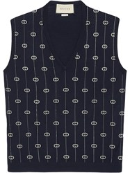 Gucci Interlocking G Stripe Vest Blue
