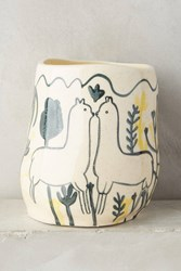 Anthropologie Wild Alpaca Pot Yellow