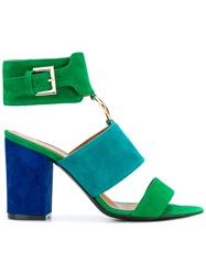 Via Roma 15 Ring Detail Heeled Sandals Blue