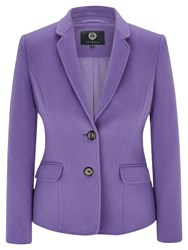 Viyella Wool Blend Teddy Jacket Purple