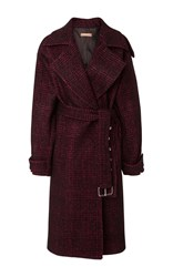 Michael Kors Collection Oversized Trench Coat Plaid