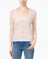 Maison Jules Open Knit Cardigan Only At Macy's Soft Petal