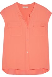 Emilio Pucci Silk Chiffon Top Orange