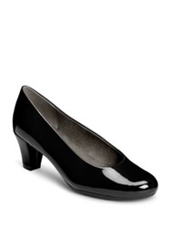 Aerosoles Shore Thing Faux Patent Leather Pumps Dark Red