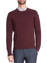 J. Lindeberg Dexter Circle Texture Sweater Dark Plum