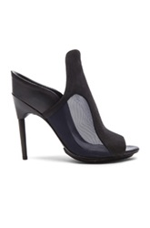 3.1 Phillip Lim Aria High Heel Calfskin Leather Mules In Black