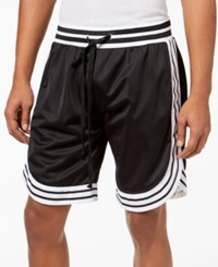 American Stitch Satin Striped Trim Shorts Black