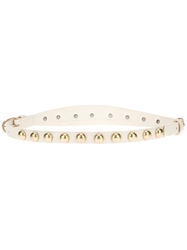 Golden Goose Deluxe Brand Studded Belt White