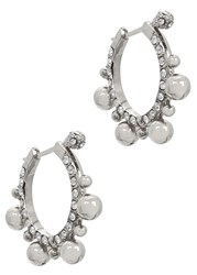 Ca And Lou Amara Silver Plated Hoop Earrings