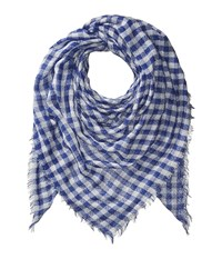 Collection Xiix Gingham Square Blue Scarves