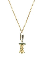Aurelie Bidermann Fine Jewellery Diamond Tsavorite And Yellow Gold Necklace