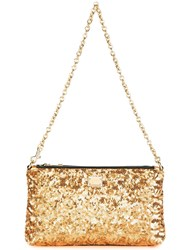 Dolce And Gabbana Sequin Clutch Metallic