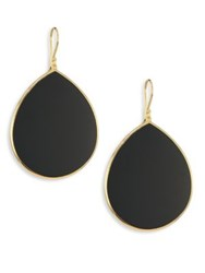 Ippolita Onyx And 18K Yellow Gold Large Teardrop Earrings