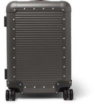 Fabbrica Pelletterie Milano Spinner 53Cm Leather Trimmed Aluminium Carry On Suitcase Gray