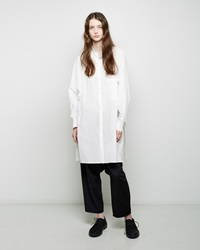 Y's Dolman Button Up Tunic White