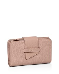 Allsaints Ray Leather Wallet Blush Pink Silver