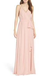 Ceremony By Joanna August Women's Knot Strap Chiffon Wrap Gown Tiny Dancer