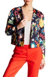Love Moschino Flower Print Blazer Blue