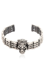 John Richmond Skull And Bones Cuff Bracelet
