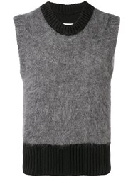 Maison Martin Margiela Colour Block Sleeveless Sweater Black