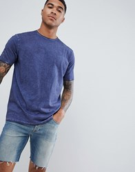 Bolongaro Trevor Acid Wash T Shirt Blue