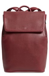 Matt And Nat 'Fabi' Faux Leather Laptop Backpack Red Rio