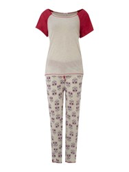 Therapy Owl Pj Set Multi Coloured