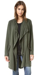 Bb Dakota Carthy Drape Front Coat Army Green