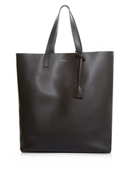 Saint Laurent Leather Tote Grey