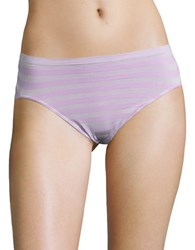 Jockey Striped Hi Cut Panties Old Lilac