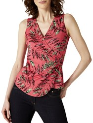 Damsel In A Dress Bria Snake Palm Jersey Top Pink