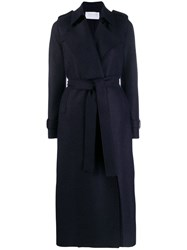 Harris Wharf London Trench Style Coat Blue