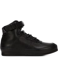 Hender Scheme Buckled Strap Hi Top Sneakers Black