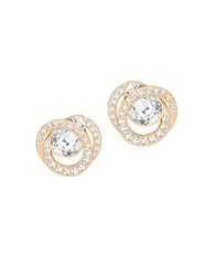 Swarovski Generation 18K Rose Gold Plated Crystal Studded Earrings