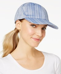 Inc International Concepts Striped Cotton Baseball Cap Only At Macy's Chambray