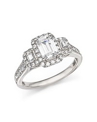 Bloomingdale's Diamond Three Stone Ring In 14K White Gold 1.75 Ct. T.W.