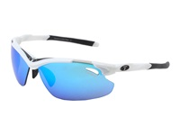 Tifosi Optics Tyrant 2.0 Mirrored All Sport Interchangeable White Black Clarion Blue Gt Ec Lens Athletic Performance Sport Sunglasses