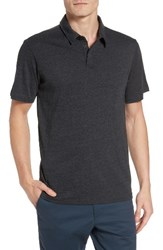 Rvca Men's Sure Thing Ii Polo Charcoal Heather