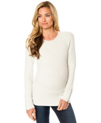 A Pea In The Pod Maternity Zip Cuff Sweater Ash Grey
