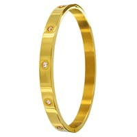 Infinity And Co Aimee Bangle Gold