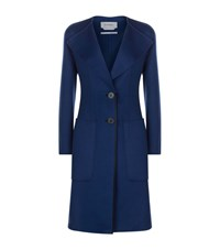 Sportmax Humour Wool Angora Coat Female Blue