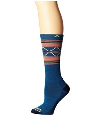 Wigwam Escalante Pro Dark Denim Women's Crew Cut Socks Shoes Navy