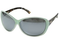 Von Zipper Vacay Mint Crystal Tortoise Silver Chrome Sport Sunglasses Gray