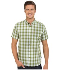 Fjall Raven Ovik Button Down Shirt Short Sleeve Meadow Green Men's Short Sleeve Button Up